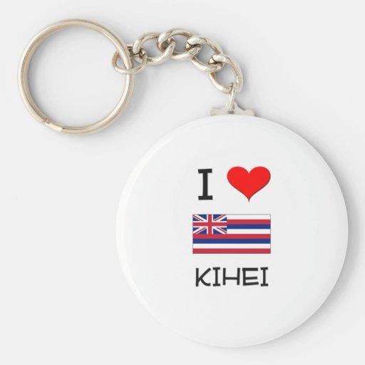 I Love KIHEI Hawaii Keychains