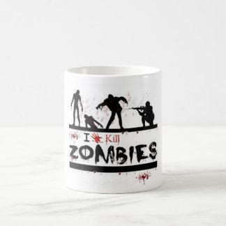 i love kill zombies mugs