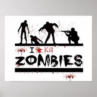 i love kill zombies poster