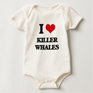 I love Killer Whales Baby Bodysuit