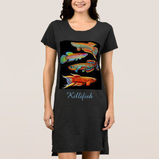 I Love Killifish Ladies Dress
