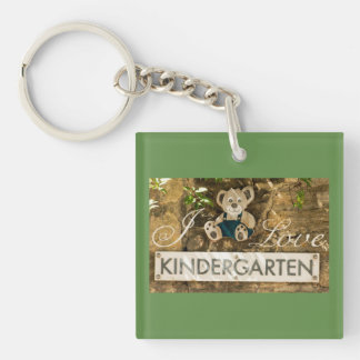 I Love Kindergarten Keychain