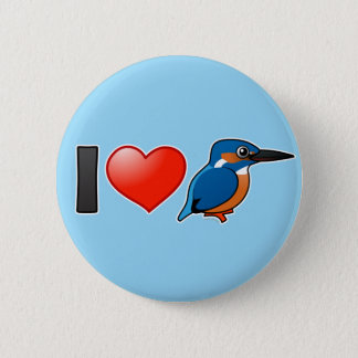 I Love Kingfishers 2 Inch Round Button