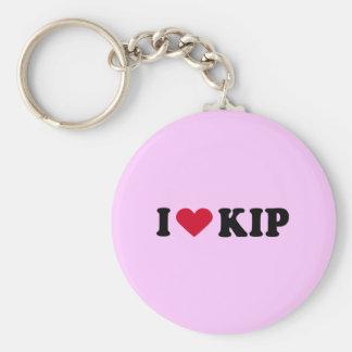 I LOVE KIP BASIC ROUND BUTTON KEYCHAIN