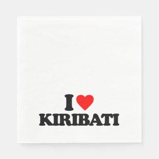 I LOVE KIRIBATI DISPOSABLE NAPKINS