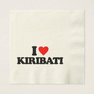 I LOVE KIRIBATI PAPER NAPKIN