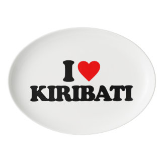 I LOVE KIRIBATI PORCELAIN SERVING PLATTER