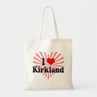 I Love Kirkland, United States Canvas Bags