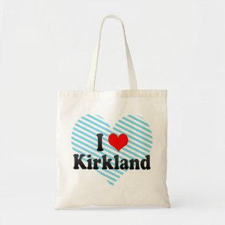 I Love Kirkland, United States Tote Bags