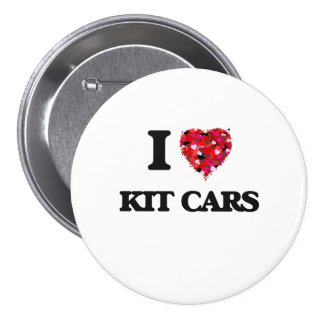 I Love Kit Cars 3 Inch Round Button