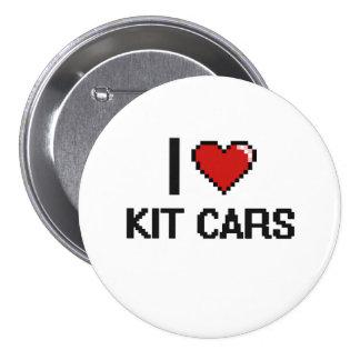 I Love Kit Cars Digital Retro Design 3 Inch Round Button