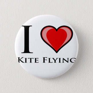 I Love Kite Flying 2 Inch Round Button