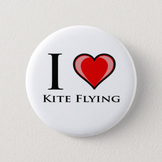 I Love Kite Flying 2 Inch Round Button