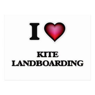 I Love Kite Landboarding Postcard