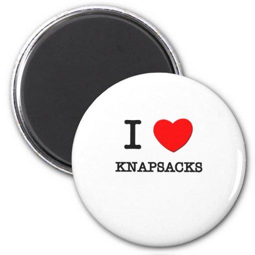 I Love Knapsacks Refrigerator Magnets