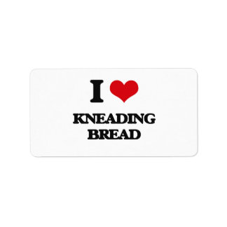 I Love Kneading Bread Personalized Address Labels