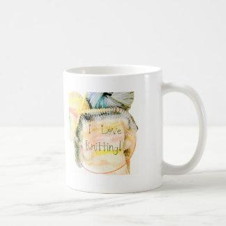 I Love Knitting Awesome Design Yarn Needles Classic White Coffee Mug
