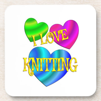 I Love Knitting Beverage Coasters