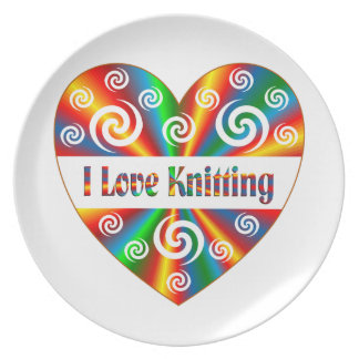 I Love Knitting Plate