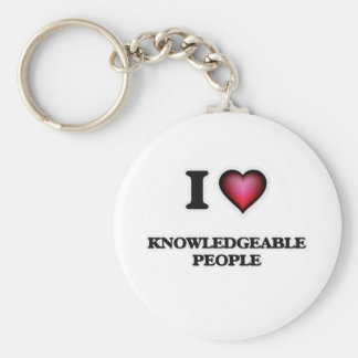 I Love Knowledgeable People Keychain