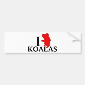 I Love Koalas Bumper Sticker