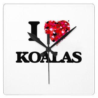 I Love Koalas Wallclock