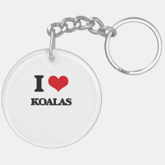 I Love Koalas Acrylic Keychains