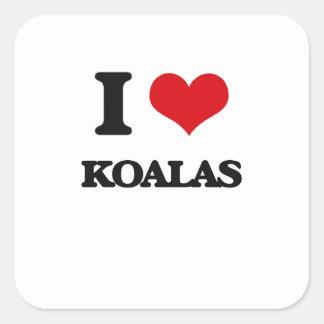 I Love Koalas Square Sticker