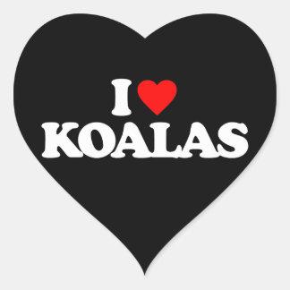 I LOVE KOALAS STICKER