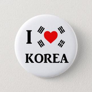 I love Korea 2 Inch Round Button