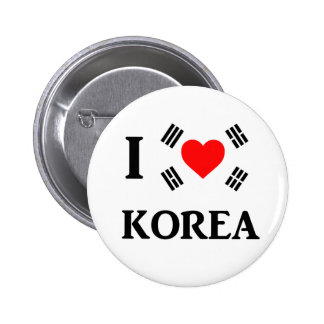 I love Korea 2 Inch Round Button