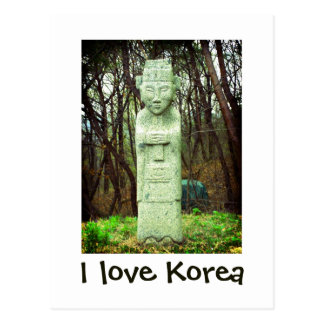 I love Korea products Postcard