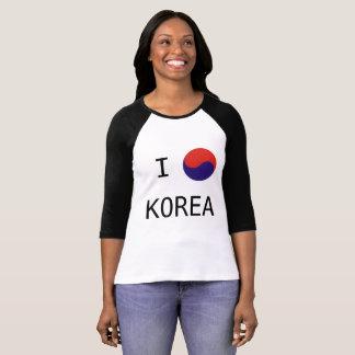 I Love Korea with Symbol NY Style T-Shirt