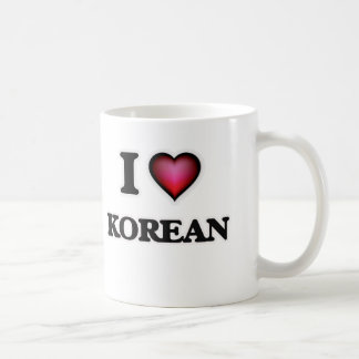 I Love Korean Coffee Mug