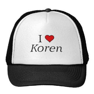 I love Koren Trucker Hat
