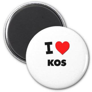 I Love Kos 2 Inch Round Magnet