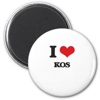 I Love Kos Magnets