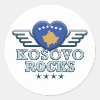 I Love Kosovo. Classic Round Sticker