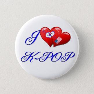 I LOVE KPOP 2 INCH ROUND BUTTON