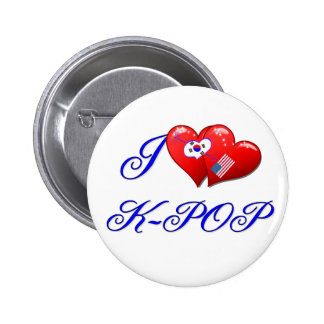 I LOVE KPOP 2 INCH ROUND BUTTON