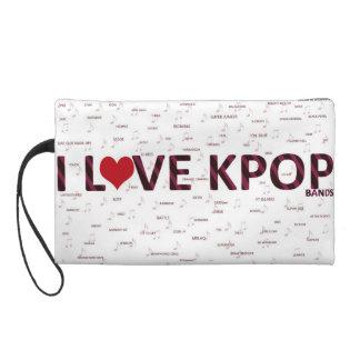I love kpop bands wristlet