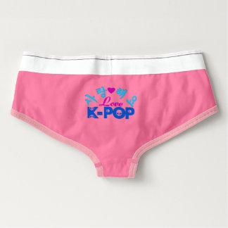 ♪♥I Love KPop Spandex Sexy Feminine Briefs♥♫ Briefs