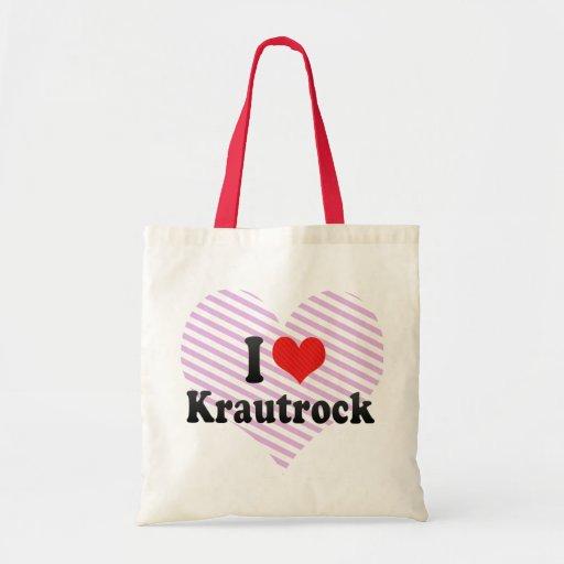 I Love Krautrock Tote Bags