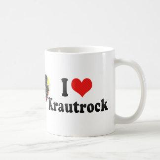 I Love Krautrock Basic White Mug