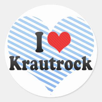 I Love Krautrock Round Sticker
