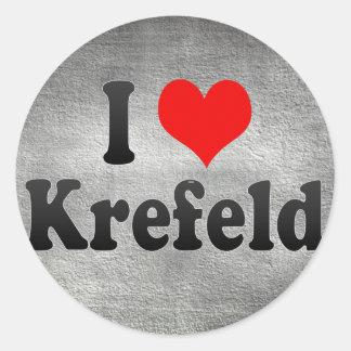 I Love Krefeld, Germany Classic Round Sticker
