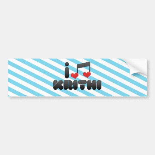 I Love Krithi Bumper Sticker