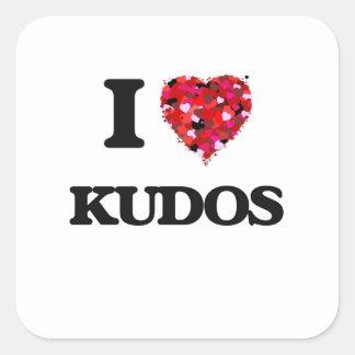I Love Kudos Square Sticker