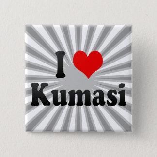 I Love Kumasi, Ghana 2 Inch Square Button