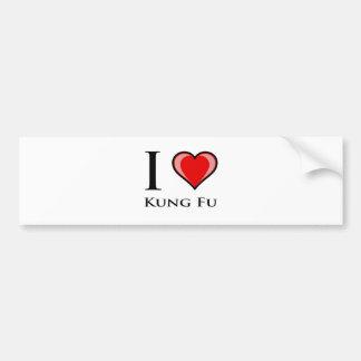 I Love Kung Fu Bumper Sticker